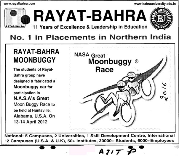Number 1 Placement in Northern India (Rayat and Bahra Group)