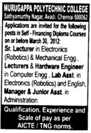 Lecturer and Hardware Engineer (Murugappa Polytechnic College (MPC))