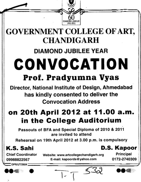 Annual Convocation 2012 (Government College of Art)
