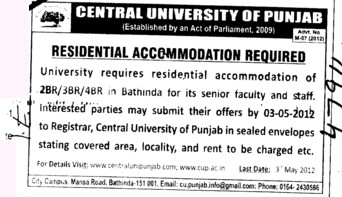 Residential Accomodation (Central University of Punjab)