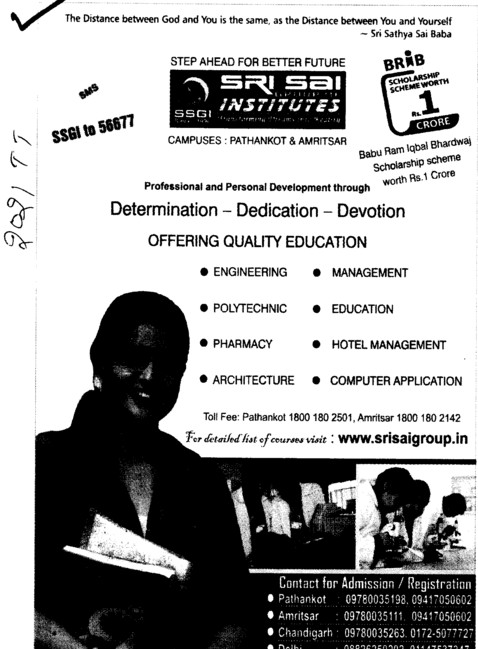 Quality Education Engineering,Management and Education etc (Sri Sai Group of Instituties (SSGI))
