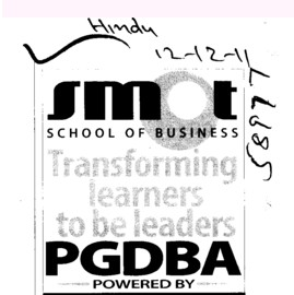 PGDBA (Smot School of Business)