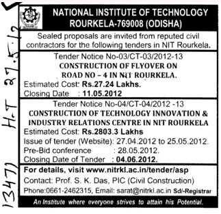 Const of Flyover etc (National Institute of Technology (NIT))
