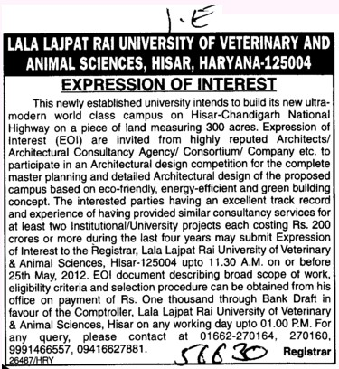 Various types of Equipments (Lala Lajpat Rai University of Veterinary and Animal Sciences)