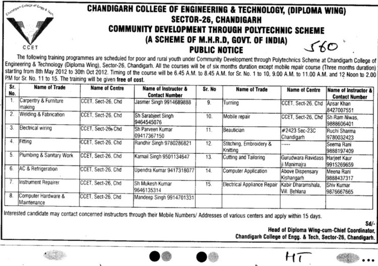Pumbing,Welding and Fabrication etc (Chandigarh College of Engineering and Technology (CCET))