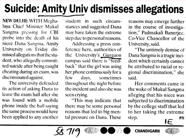 Amity Univ dismisses allegations (Amity University Manesar)