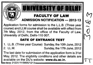 LLB and LLM (Delhi University)