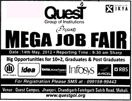 Mega Job Fest 2012 (Quest Group of Institutions)