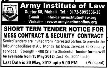 Mess Contract and Security Contract (Army Institute of Law)