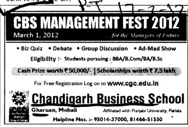 BA,BBA and BSc Courses etc (Chandigarh Business School)