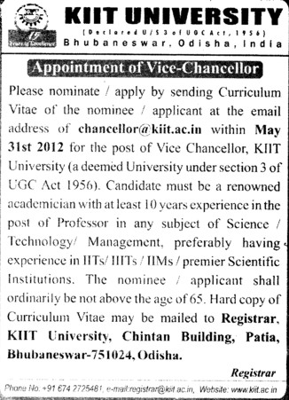 Vice Chancellor (KIIT University)