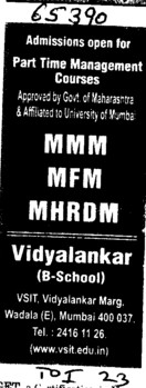 MMM,MFM and MHRDM (Vidyalankar School of Information Technology (VSIT))
