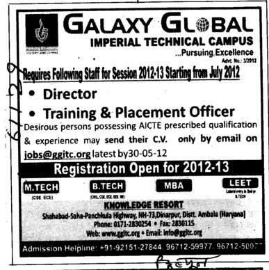 Director and TNP officer (Galaxy Global Imperial Technical Campus)