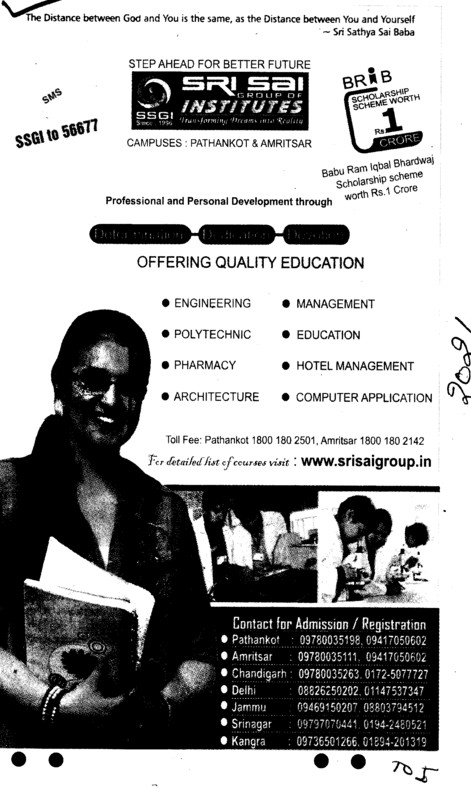 Professional Courses (Sri Sai Group of Instituties (SSGI))