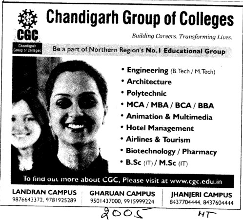 BBA,BCA,MBA and MCA Courses (Chandigarh Group of Colleges)