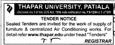 Air Conditioning works (Thapar University)