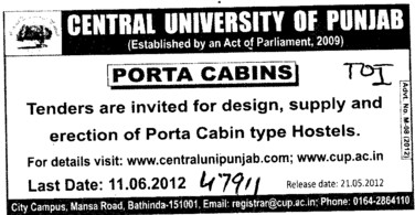 Porta Cabin type Hostels (Central University of Punjab)
