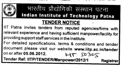 Support staff service (Indian Institute of Technology IIT)