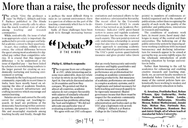 More then a raise, the professor needs dignity (Jawaharlal Nehru University)