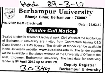 Class License and HTMV License (Berhampur University (BAMU))