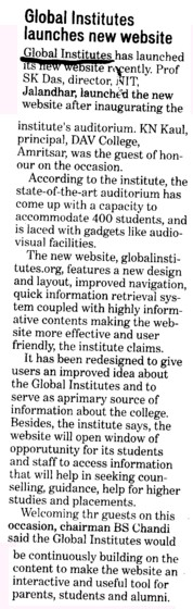 Global Institutes launches new website (Global Institutes Group)