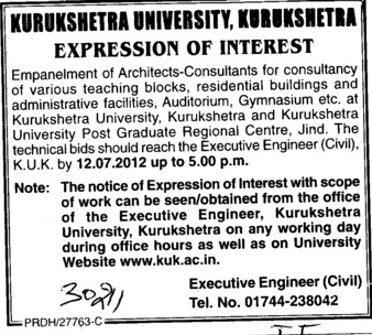 Teaching Blocks and Residential Building etc (Kurukshetra University)