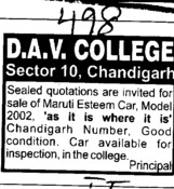 Sale of Maruti Esteem Car (DAV College Sector 10)