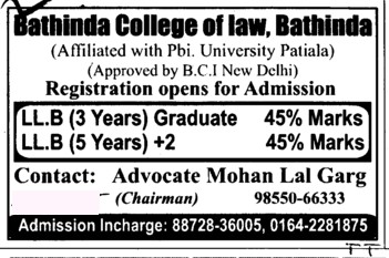 LLB Course (Bathinda College of Law)