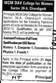 Asstt Professor (MCM DAV College for Women)