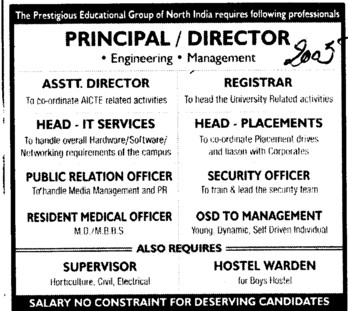 Principal and Director (Chandigarh Group of Colleges)