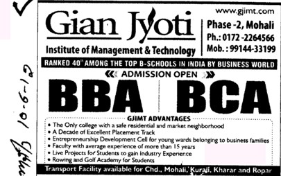 BBA and BCA (Gian Jyoti Institute of Management and Technology (GJIMT))