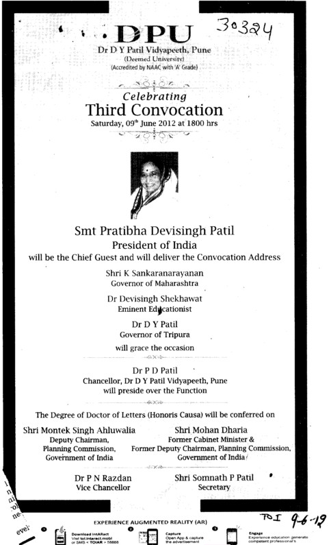 3 Annual Convocation 2012 (Dr DY Patil University)