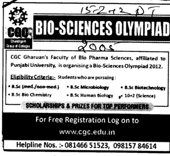 BSc in various streams (Chandigarh Group of Colleges)