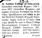 Associate Professor for MEd Class (St Soldier College of Education)