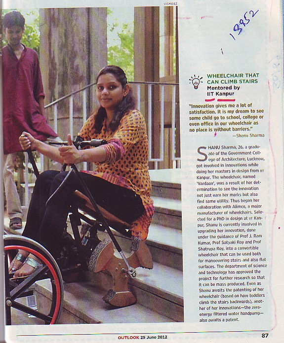 Wheelchair that can climb stairs (Indian Institute of Technology (IITK))