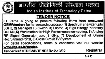 High Energy Planetary Ball Mill etc (Indian Institute of Technology IIT)