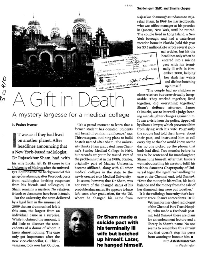 A Gift in Death (University of Madras)
