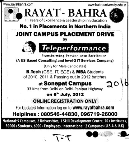 BTech and MBA Courses (Rayat and Bahra Group)