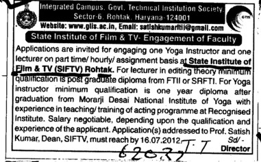 Yoga Instructor (State Institute of Film and TV (SIFTV))