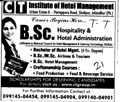 BSc and MSc Courses (CT Institute of Hotel Management and Catering Technology)