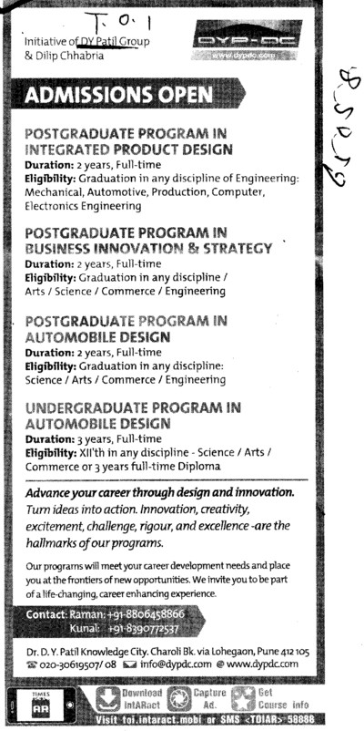 UG and PG Courses (Dr. DY Patil Group of Institutions (Technical Campus))