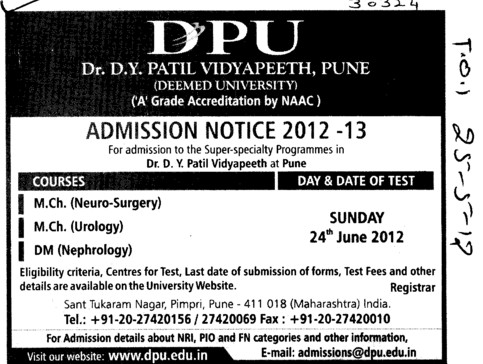 MCh and DM Courses (Dr DY Patil University)