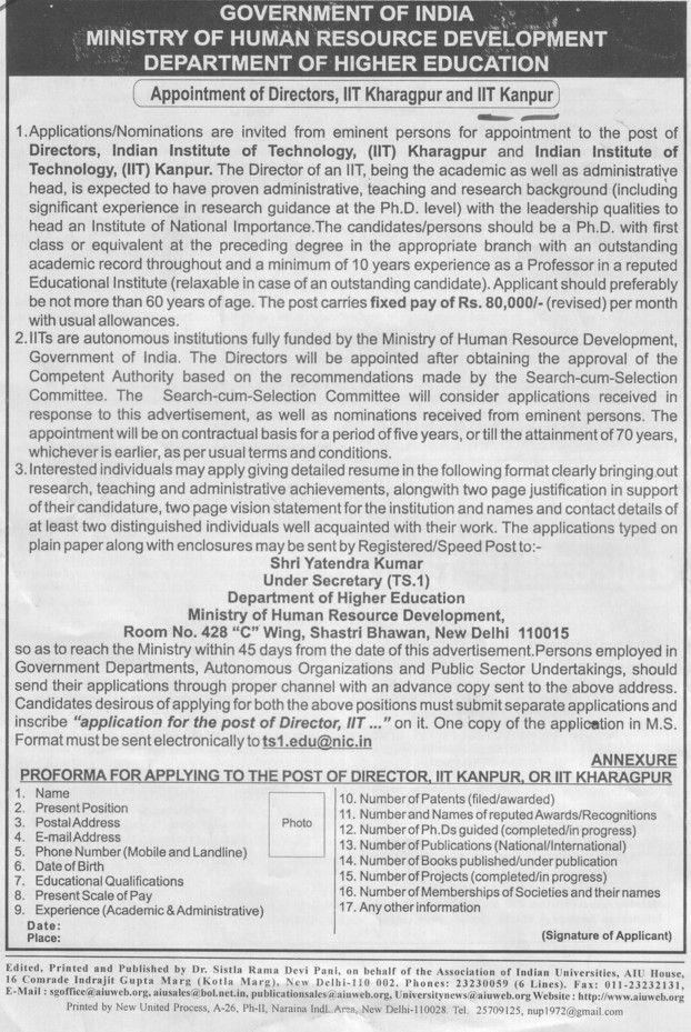Director (Indian Institute of Technology (IITK))