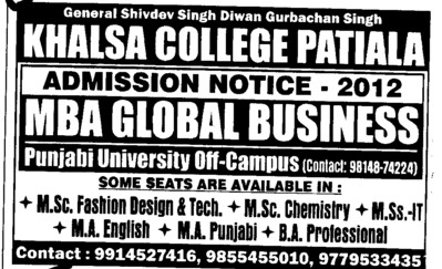 MBA Global Bussiness (Khalsa College)