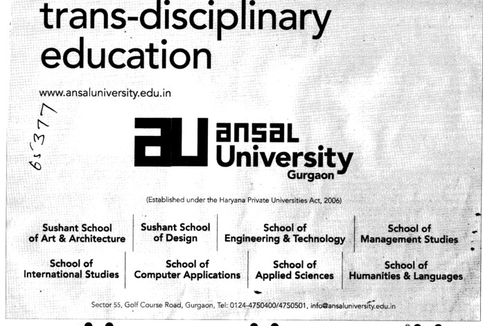Trans disciplinary education (Ansal University)