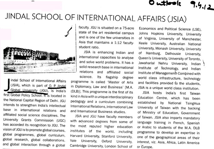 More about JSIA (OP Jindal Global University)