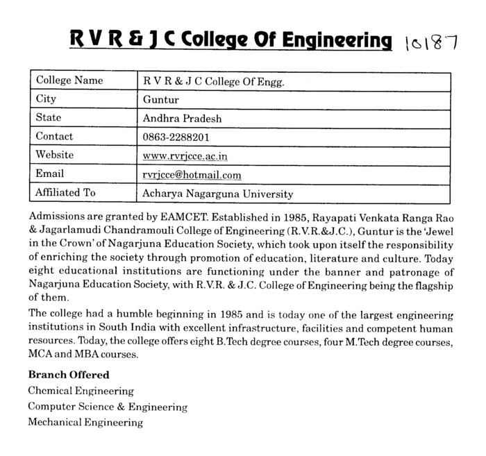it rvr jc syallbus Syllabus ict was first introduced in 2009 as a advanced level subjectthat syllabus was used till 2013 and a revisited edition of the syllabus was presented in the latter half of 2013 by the national institute of education (nie).