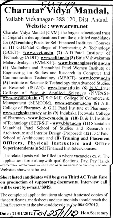TNP officer and Physical Instructor etc (NV Patel College of Pure and Applied Sciences)