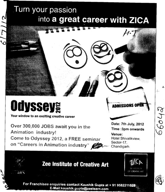 Turn your passion into a great career with ZICA (Zee Institute of Creative Art (ZICA))