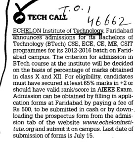 Tech Call (Echelon Institute of Technology)